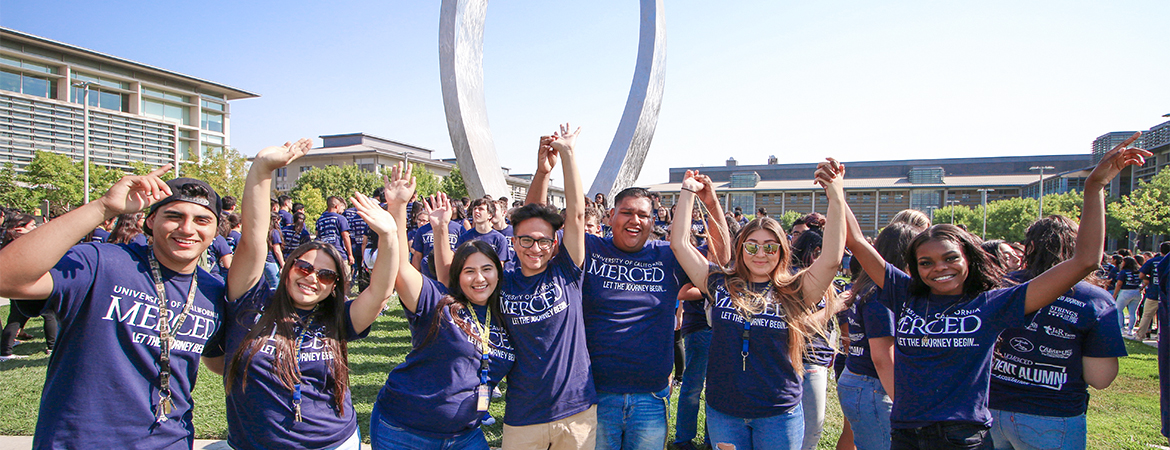 UC Merced students celebrate their start at UC Merced.